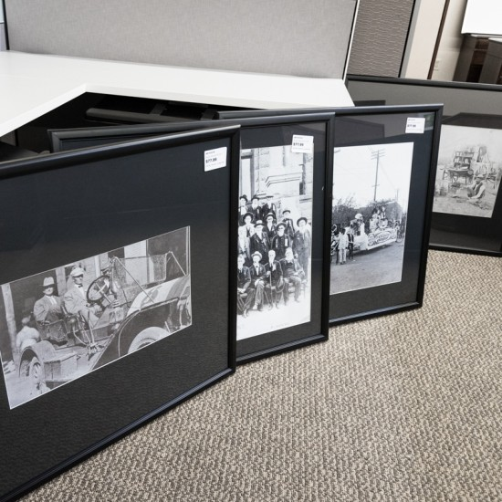 Used Various Old Times and Western Black & White Framed Art Work ART1572-018