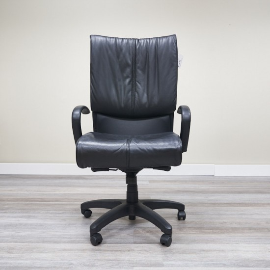 Used High Back Tuxedo Back Executive Chair (Black) CHE1693-022