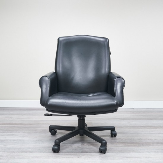 Used HBF Leather Executive Chair (Black) CHE1700-021