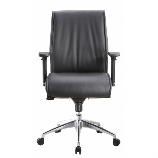 Alto Leather Mid Back Executive Chair (Black)