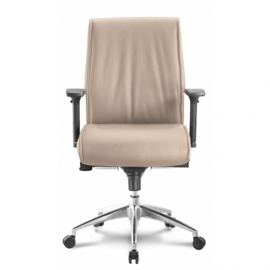 Alto Leather Mid Back Executive Chair (Sand)