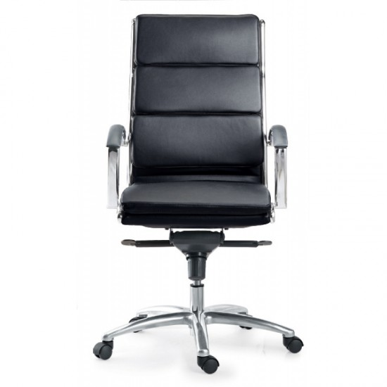 Livello Leather High Back Executive Chair (Black)