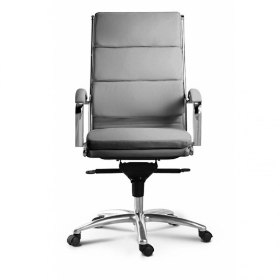 Livello Leather High Back Executive Chair (Gray)