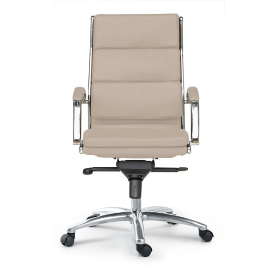 Livello Leather High Back Executive Chair (Sand)