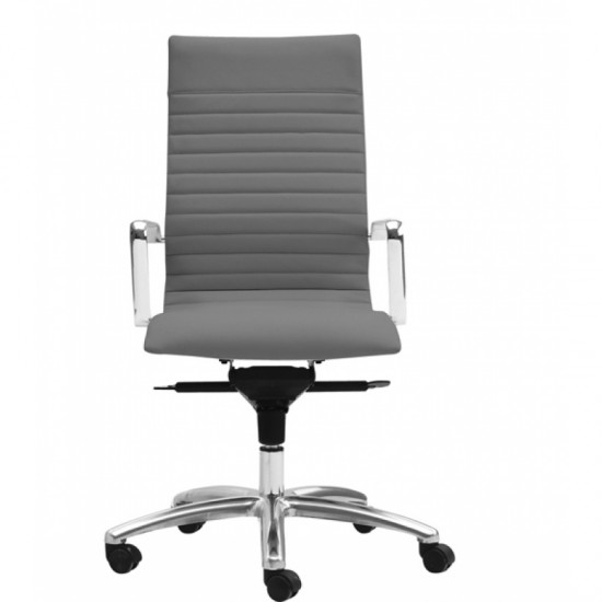 Zetti Leather High Back Executive Chair (Gray)