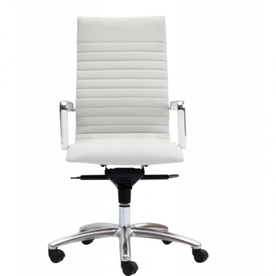 Zetti Leather High Back Executive Chair (White)