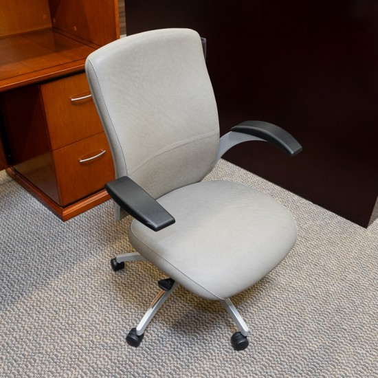 [Closeout] National Aurora Mid Back Office Chair (Sedona Tumbleweed) CHE6767NAT
