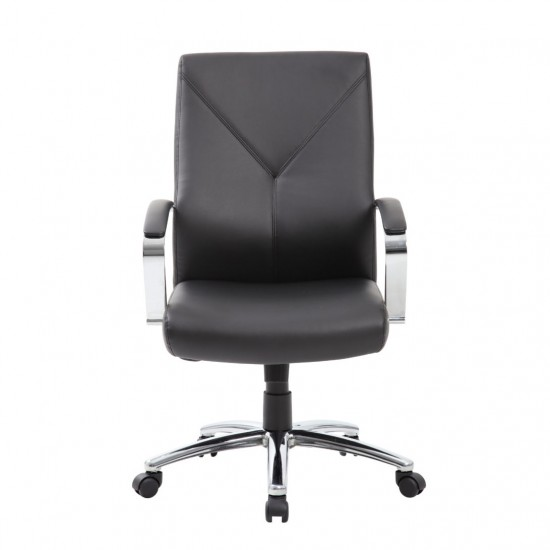Boss Leather Plus High Back Executive Chair (Black)