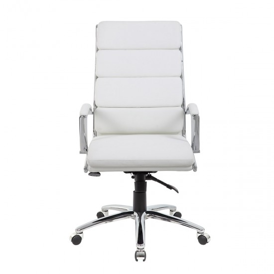 Boss CaressoftPlus™ High-Back Executive Chair (White)