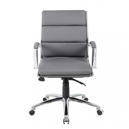 Boss CaressoftPlus™ Mid-Back Executive Chair (Gray)