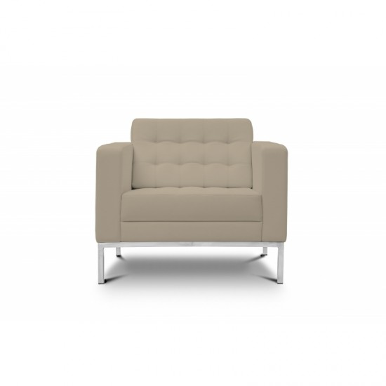 Piazza Leather Office Lounge Chair (Sand)