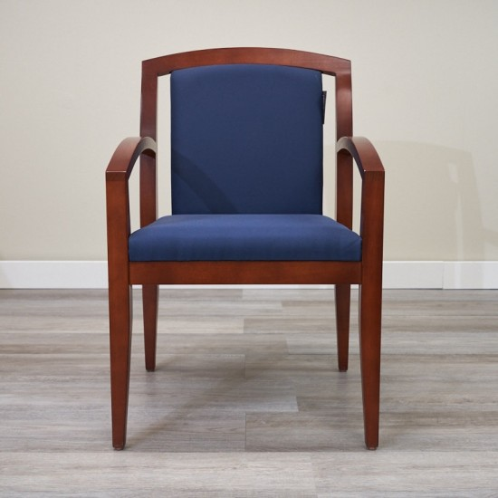 Used Guest Chair (Mahogany & Blue) CHS9999-1090