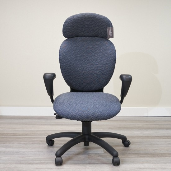 Used Global High Back Task Chair (Blue) CHT1646-006