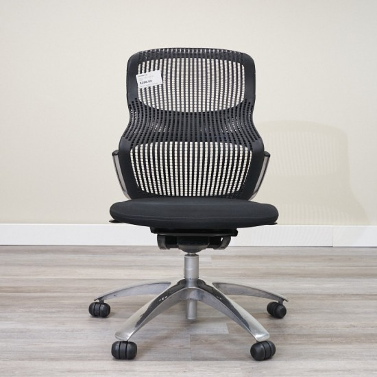Used Knoll Generations Armless Task Chair (Black) CHT9999-1063