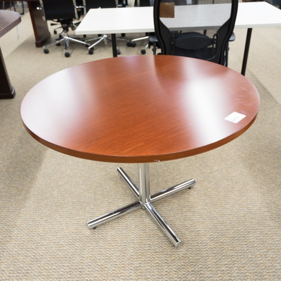 "Used 42"" Round Conference Table (Cherry) CTB1447-015"