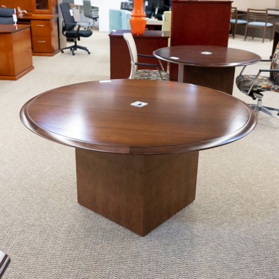 """Used Paoli 57"""" Round Conference Table (Walnut) CTB1624-011"""