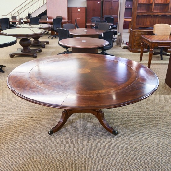 Used Traditional Round Expandable Conference Table CTB1661-009