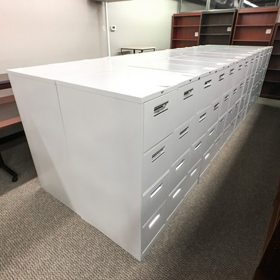 Used Allsteel 4 Drawer Vertical File Cabinets (Gray) FIV9999-516
