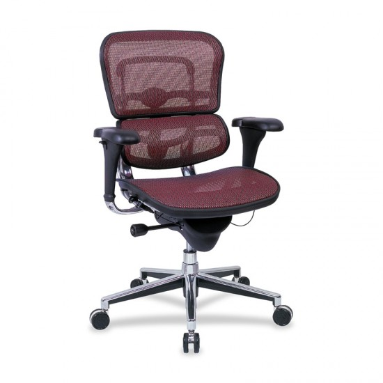 Ergohuman Mid-Back Ergonomic Chair ME8ERGLO-KM12 (Plum Red Mesh)