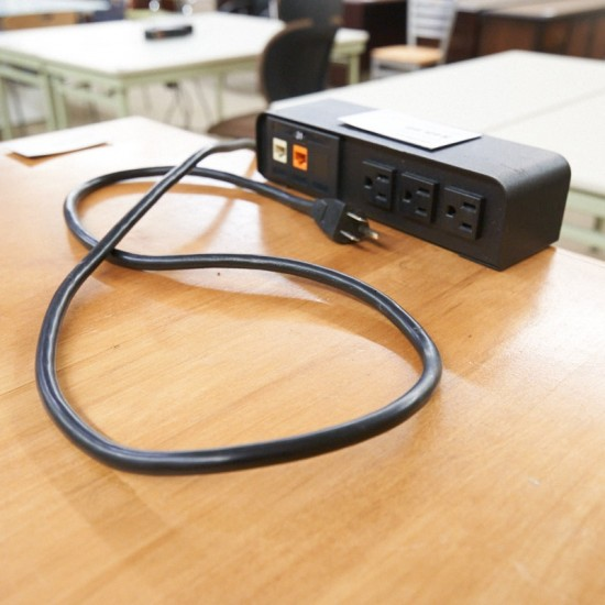 Used Heavy Duty Desk Power Strip with Network Ports MIS9999-997