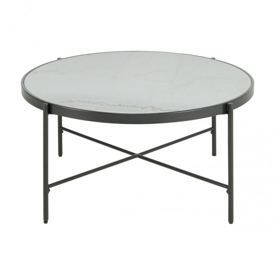 Ellie International Verna Marble Occasional Table
