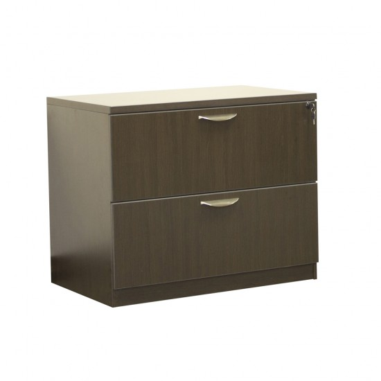 Ultra 2 Drawer Lateral File Cabinet OFD-112ESP (Espresso)
