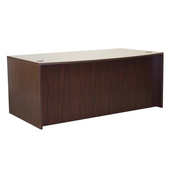 "Ultra 71"" Bow Top Desk Shell OFD-189MAH (Mahogany)"