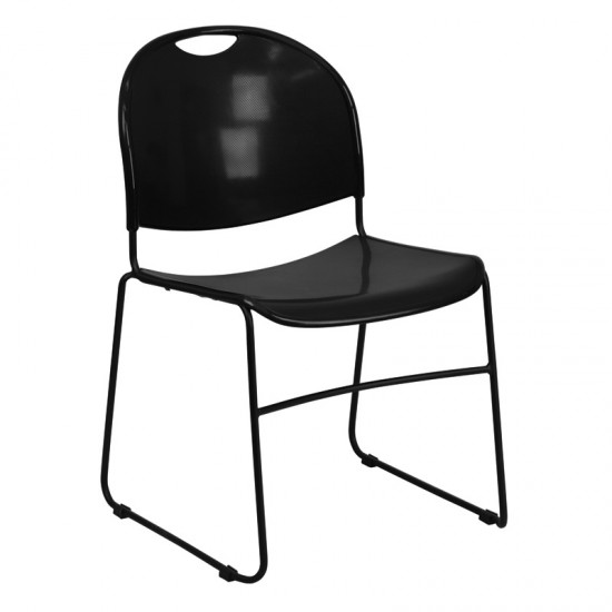 Plastic Stack Chair SI-1106-3 (Black)