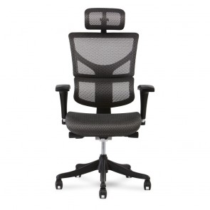 X-Chair X1 Flex Mesh Task Chair with Headrest (Gray)