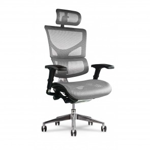 X-Chair X2 K-Sport Executive Task Chair with Headrest (White)