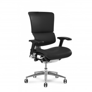 X-Chair X4 Leather Executive Chair (Black)