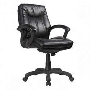 Mid Back Faux Leather Executive Chair OFD-7100-BLK (Black)