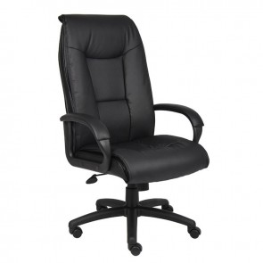 Boss Leather Plus High Back Executive Office Chair