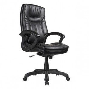 High Back Faux Leather Executive Chair OFD-7000-BLK (Black)