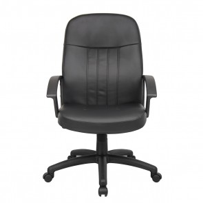 Boss Budget Leather Executive Chair (Black)