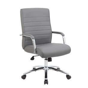 Boss Modern High Back Executive Conference Chair (Gray)