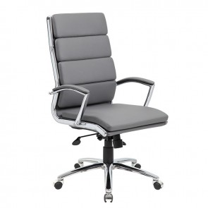 Boss CaressoftPlus™ High-Back Executive Chair (Gray)