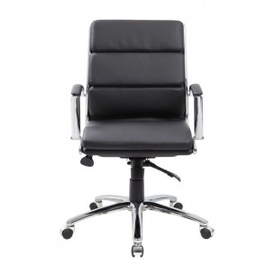 Boss CaressoftPlus™ Mid-Back Executive Chair (Black)