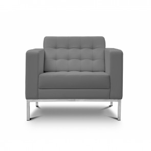 Piazza Leather Office Lounge Chair (Gray)