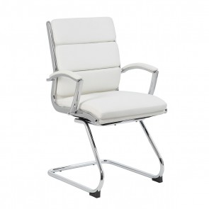 Boss CaressoftPlus™ Executive Guest Chair (White)
