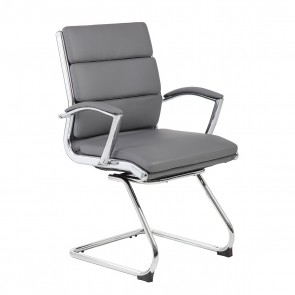 Boss CaressoftPlus™ Executive Guest Chair (Gray)
