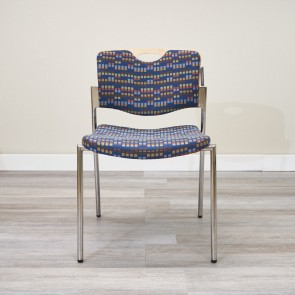 Used Stylex Stacking Guest Chair (Maple & Blue) CHS1614-005