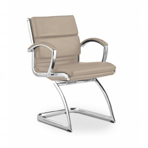 Livello Leather Office Guest Chair (Sand)