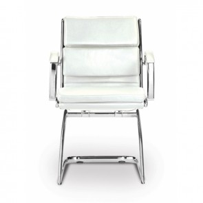 Livello Leather Office Guest Chair (White)