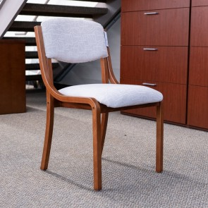 Used JSI Sterling Guest Chair (Showroom Sample - Walnut & Cream) CHS9999-1020