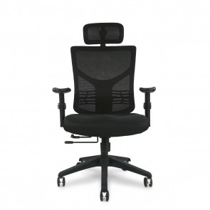 X-Chair X-Project Task Chair with Headrest (Black)