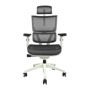 X-Chair Xs-Vision Petite Task Chair with Headrest (Gray on White)