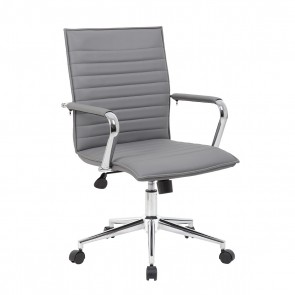 Boss Modern Mid-Back Task Chair (Gray)