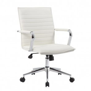 Boss Modern Mid-Back Task Chair (White)