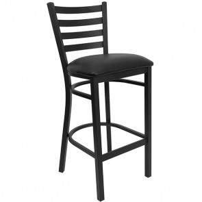 Barstool Black Cushion on Black CI-825-B6